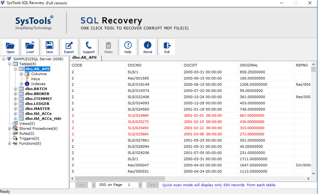 SQL Data Recovery Software Free Download